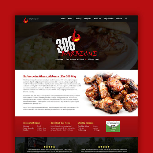featured web design 306bbq over